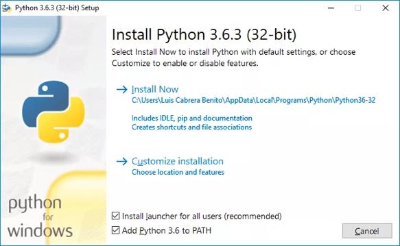 Instalación python